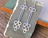 Art Nouveau Drops, Art Nouveau Earrings, Silver Earrings, Handmade Jewelry