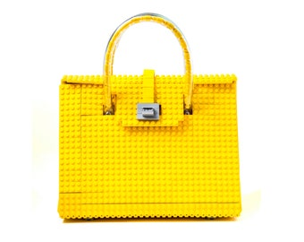 The Brick Bag in yellow made entirely of LEGO® bricks FREE SHIPPING lego gift handbag trending fashion