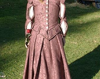 Purple Elizabethan Doublet Dress