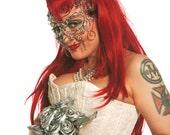 Pearl masquerade mask , silver mask, wedding mask, wedding accessories, masquerade ball mask, handmade mask, eyewear, womens mask, mens mask