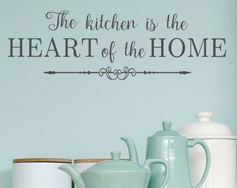 Kitchen- The Kitchen is the Heart of the Home #2-Vinyl Wall Decal- Kitchen Decor- Home Decor- Wall Decor- Kitchen Wall Art