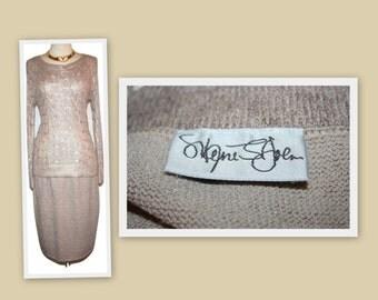 1970s Marie St John/St John Knit Oatmeal Knit Straight Skirt