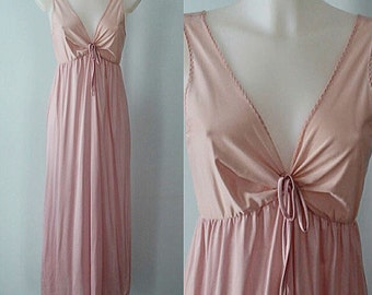 Vintage Pink Nightgown, 1970s Nightgown, Vintage Nightgown, Vintage Nightgowns, Kayser, Pink Nightgown, Vintage Lingerie
