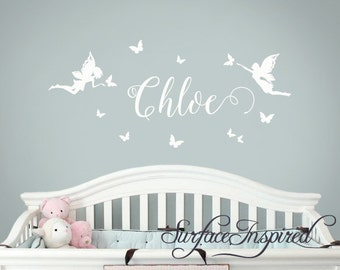 Wall Decals Personalized Names Nursery Wall Decal Kids Wall Decal Wall Decal Quote Wall Decals For Girls or Boys Chloe Fairy Name Decals