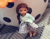 Pukipuki Little Gray Dress with Jacket