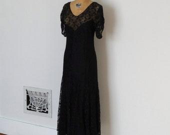 Vintage 1930s Dress - 30s Lace Dress - The Deletta