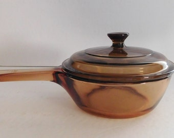 Visionware/Corning 1 Pint Sauce Pan w/Lid (0.5 L) Mint Condition