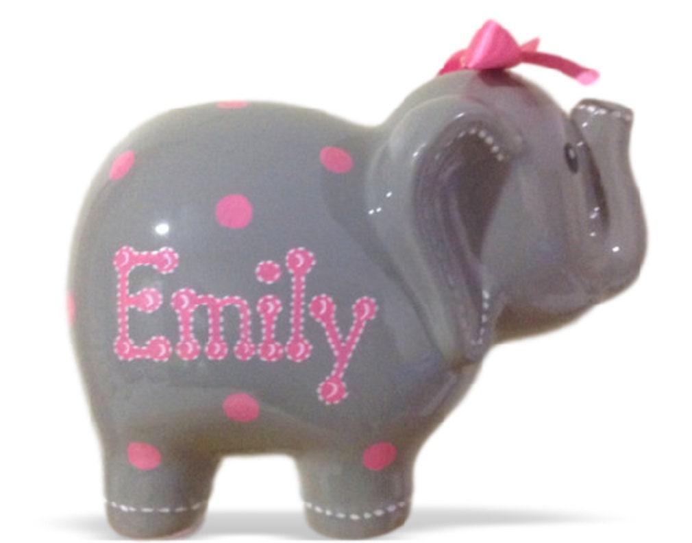 Personalized large elephant piggy bank by kutekustomkreations - Ceramic elephant piggy bank ...