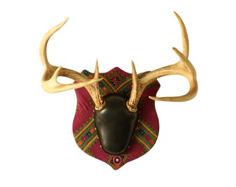 Chakla Upholstered Mounted Deer Antlers