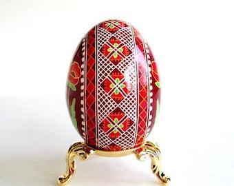 Poppies painted on chicken egg shell ~ Ukrainian Easter eggs ~ batik techniques, art, souvenir, keepsake of well-being, rebirth, union, baby