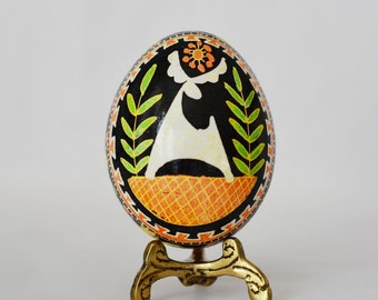 ukrainian Easter egg, batik chicken egg shell