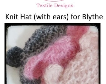 Knitting Pattern for Blythe Hat with Ears