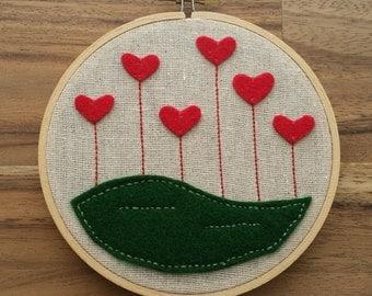 Love Grows - Embroidery Hoop Art