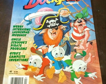 Disney's DUCK TALES Magazine Summer 1989 Issue Scrooge McDuck Disney Pirates Terror On The High Seas Free Shipping