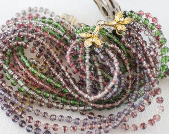 Vintage Rare Multi-Strand Sandor Glass Necklace  .....1016