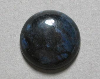 Blue DUMORTIERITE cabochon round 20mm disc designer cab
