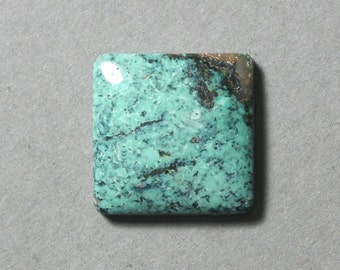 blue TURQUOISE square cabochon 18X18mm diamond designer cab