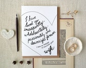 Bride to groom card. Hand drawn typography. Groom wedding card gift. Happy to become your wife. Bride gift to groom. Romantic wedding. LC383