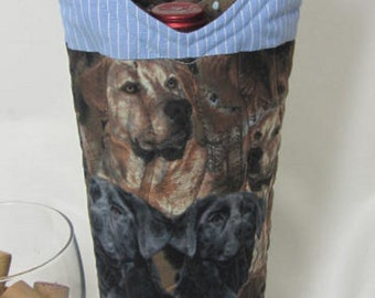 Wine Bag Tote Bag Black Lab Chocolate Lab Dog Lover Hunting Dogs