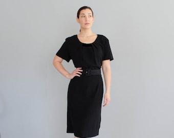 Vintage 1940s LBD - 40s Little Black Dress - Gal Friday Dress