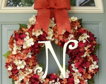 Fall Wreath Fall Monogram Wreath Fall Wreath for Door