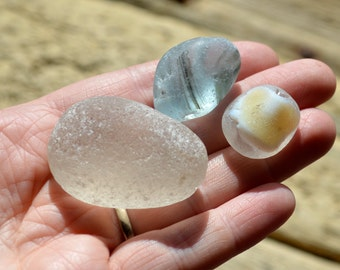 SEA GLASS TRIO - 54g - Scottish & English Beach Glass (4367)