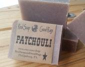 Patchouli Soap with Black Walnut Hull Powder