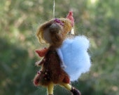 Needle felted Waldorf inspired Little Autumn Fall Fairy Ornament Mobile