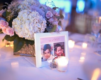 Wedding Table Numbers Baby Photos Children Baby Pictures Year Flashback Black and White Place Cards Wedding Decor