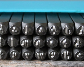 """Metal Stamp Set Tootsie Roll Font""""Cashew Apple"""" 4mm-Lowercase-Metal Supply Chick-Steel Stamps for Metal-Can be used on Stainless-TRCHLC"""