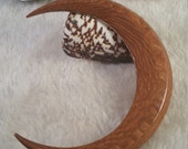 RavensCroft Approved Faceted Moon Curly Maple and Leopardwood 4 3/4 in