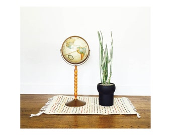 Vintage Replogle World Globe on Tall Stand