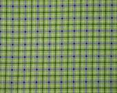 Green Purple Plaid Flannel, Quilting Cotton Fabric, RJR, Violet Patch, Serendipity Sunflowers, half yard, B3