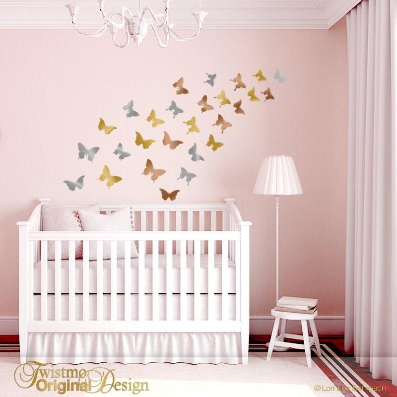 Nursery Wall Decor Butterflies : Butterfly wall decor for nursery decals in