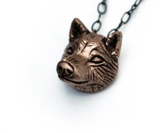 Shiba inu head pendant