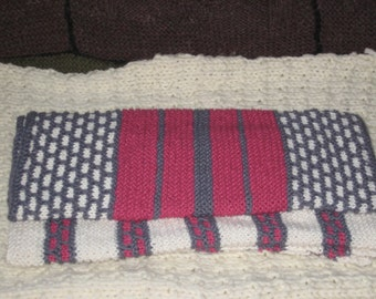 Cotton/Linen Blend Hand Knit Hand Towels for Kitchen, Bath, Guest Room