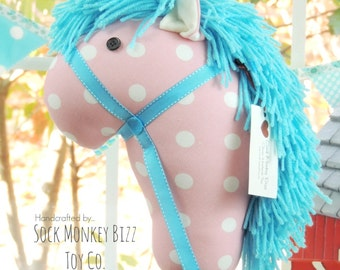 Cotton Candy Stick Horse, Child's Toy