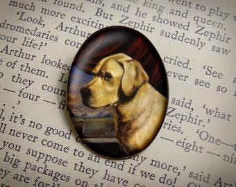 Labrador Dog Brooch, Labrador Retriever Brooch, Yellow Labrador, Golden Retriever, Dog Pin, Dog Portrait, Dog Lover, Pet Portrait, Dog Owner