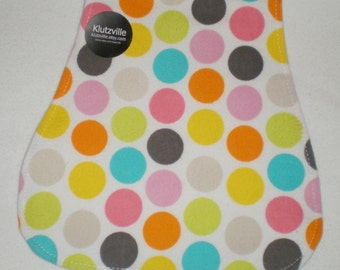 Circus Gumballs Print Flannel Burp Cloth