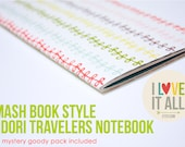 Smash Book Mixed Media Travelers Notebook Insert Travel Journal Agenda Diary Planner Midori Fauxdori Sketchbook . Collage Lists