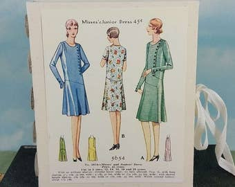 Ladies Dresses Fashion Journal with Vintage 1920's Sewing Pattern Wraparound Cover