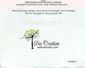1456-7 Tree logo design, Custom Premade Logo Design ,doodle tree logo , photography logo, boutique logo watermark