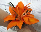 Orange Tiger lily Wrist corsage