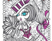 COLORING Book Burlesque Mermaids Unique fun art for you to color Ohh La La Cute Adult Coloring Book of Mermaids