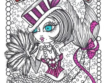COLORING Book Burlesque Mermaids Unique fun art for you to color Ohh La La Cute Adult Coloring Book of Mermaids