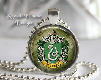 Harry Potter House Crest Jewelry, Slytherin Necklace, Gryffindor Necklace, Hufflepuff Necklace, Ravenclaw Necklace, Harry Potter Jewelry