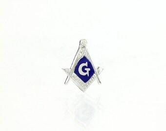 Masonic Sterling Silver Vintage Lapel Pin