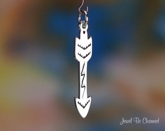 Sterling Silver Native American Indian Arrow Charm Solid .925