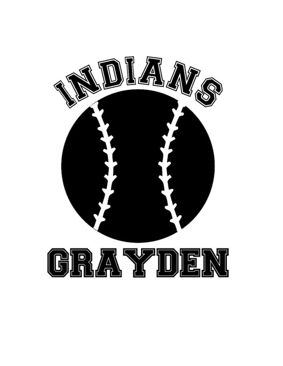 Personalized Baseball Iron On Vinyl Or Vinyl Car Decal From - Custom car decals india   how to personalize