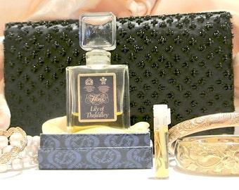 SAMPLE SIZE of vintage fragrance, FLORIS Lily of the Valley, eau de toilette, decanted vial .7 ml hand-drawn, Muguet des Bois scent